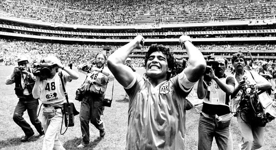 Diego Maradona kunne efter kvartfinalen ved VM i Mexico 1986 med en vis tilfredshed notere sig den argentinske sejr efter både at have scoret med Guds hånd og sin egen guddommelige fod.