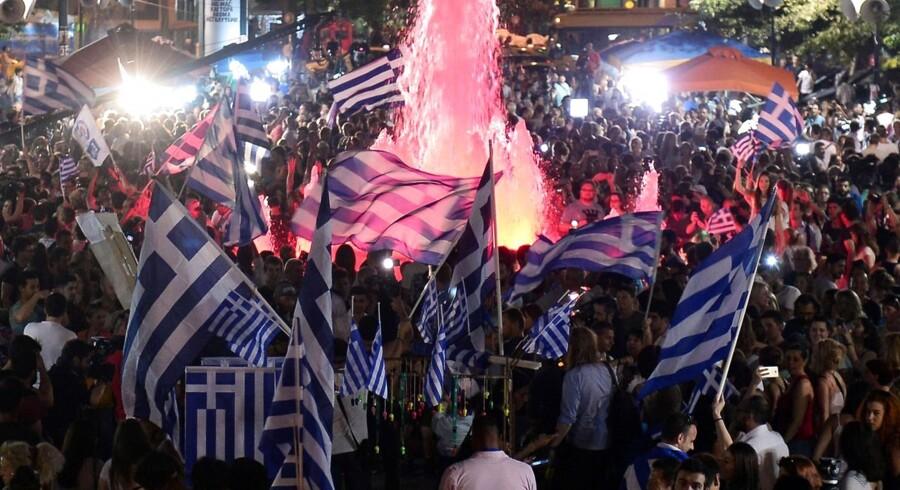 Athen søndag aften.
