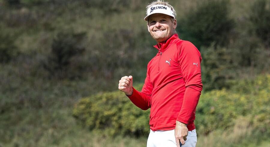 Søren Kjeldsen fortsætter det gode spil i sæsonfinalen i Dubai. Scanpix/Henning Bagger