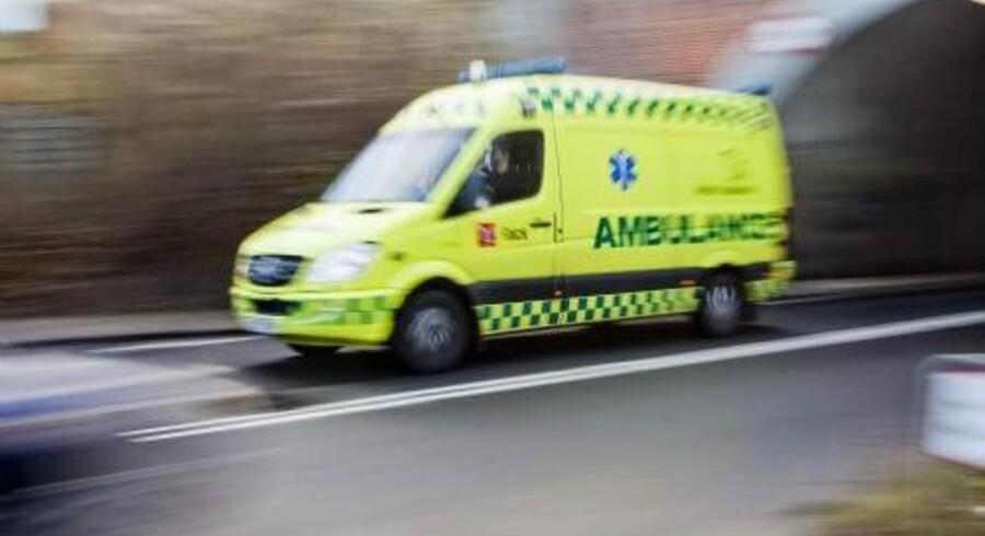 To mænd er i kritisk tilstand efter en alvorlig ulykke i Hedehusene tidligt søndag. Arkivfoto. Free/Colourbox