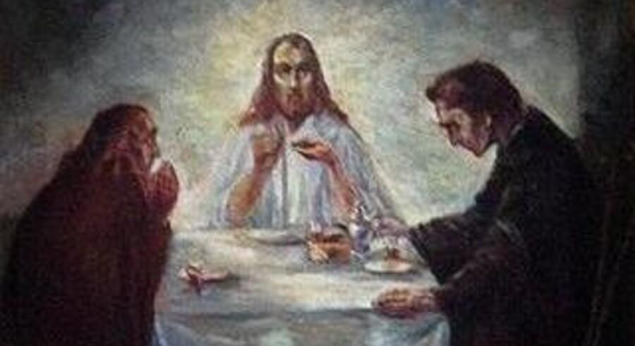 Det er dette maleri, »Middag i Emmaus«, af Emil Nolde, der er blevet stjålet.
