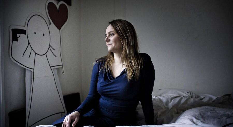 Tegner og forfatter Maren Uthaug. Billedet er fra december sidste år i hendes hjem.