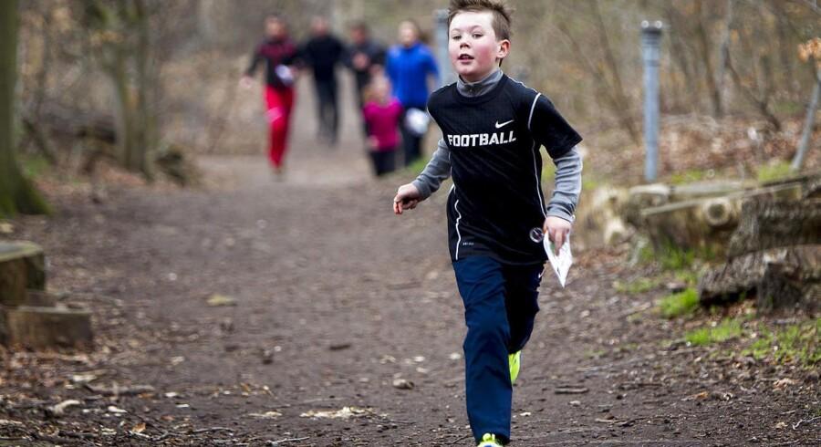 ARKIVFOTO: Prins Christian på orienteringsløb.
