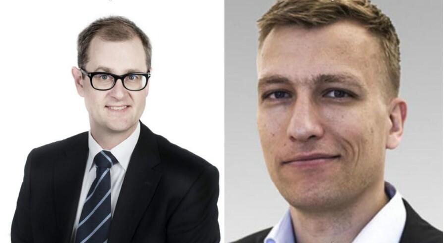 Mads Lundby Hansen, cheføkonom, CEPOS og Jørgen Sloth Bjerre Hansen, chefkonsulent, CEPOS.