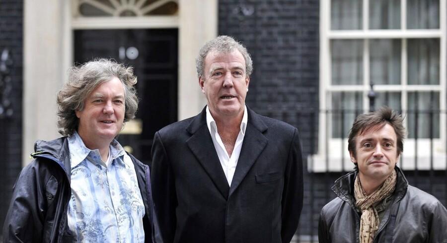 Det tidligere 'Top Gear'-hold James May, Jeremy Clarkson og Richard Hammond skal sammen lave et nyt bil-program til Amazon Video. Det blev afsløret 30. juli 2015. Her ses de sammen ved en tidligere lejlighed.