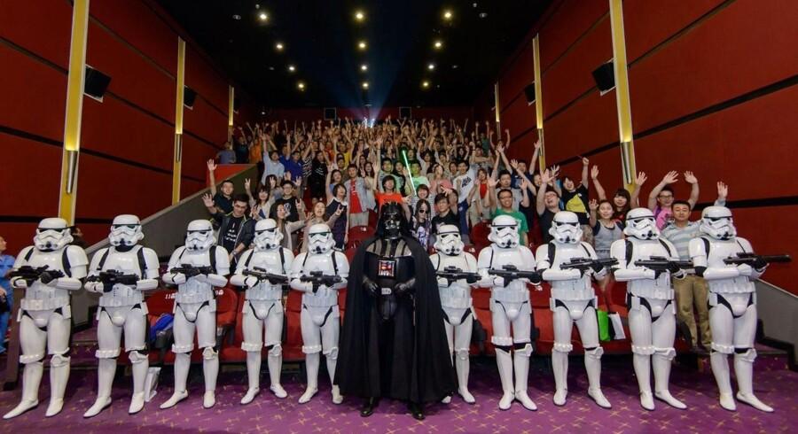 Et billede fra Walt Disney Studios i Kina i forbindelse med den længe ventede premiere på Star Wars.