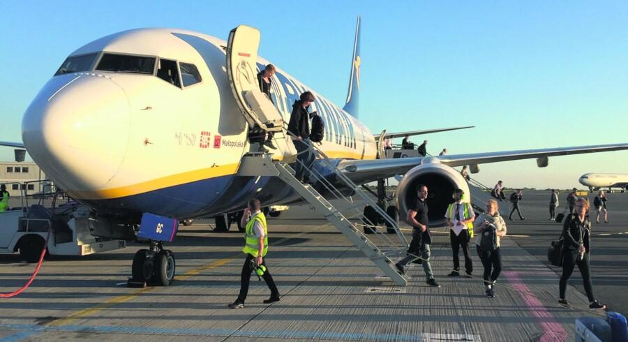 Ryanair er fløjet helt til tops som selskabet med flest flypassagerer overhovedet i Europa - og de seneste tal viser yderligere fremgang. Foto: Håkan Dahlström.