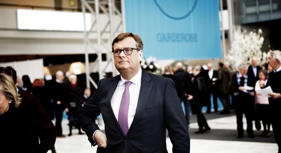 På A.P. Møller-Mærsk Generalforsamling 2015, som afholdes mandag vedtog bestyrelsen med bestyrelsesformand Michael Pram Rasmussen i spidsen at udbetale hele 33,9 mia. i ekstraordinært udbytte til aktionærerne. Foto: Erik Refner/Scanpix.