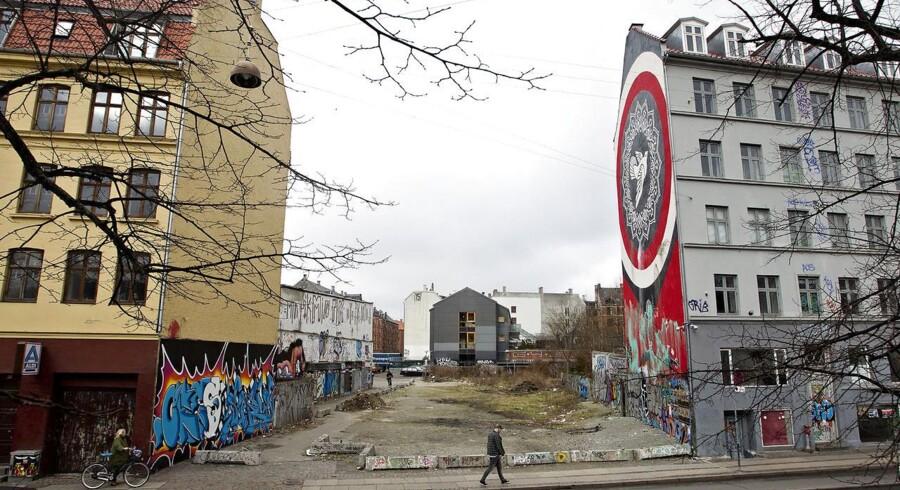 Jagtvej 69 på Nørrebro i København har været en bygningsblottet grund, siden Ungdomshuset blev revet ned 5. marts 2007.