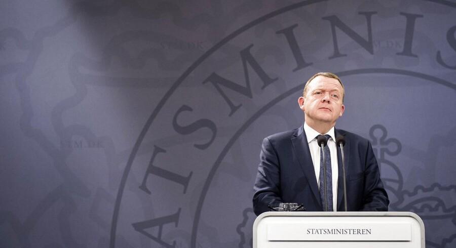 Arkivfoto: Statsminister Lars Løkke Rasmussen under et pressemøde i Statsministeriet.