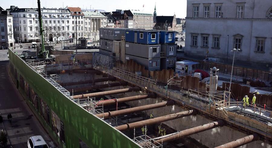 Metrobyggeri ved Gl. Strand.