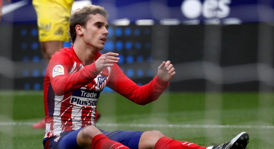 Antoine Griezmann var nok en gang manden bag en sejr til Atlético Madrid. Reuters/Juan Medina