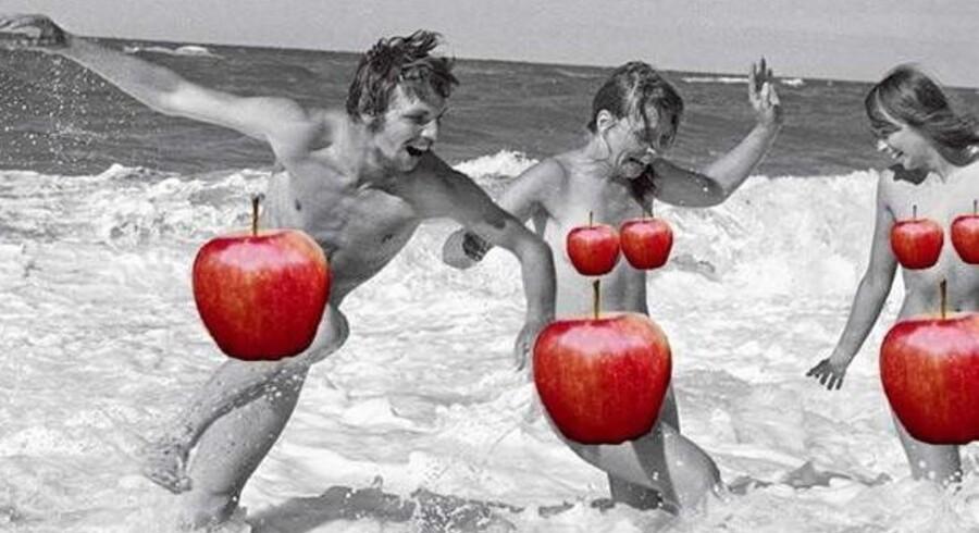 Apple krævede, at forfatteren Peter Øvig Knudsen censurerede nøgenbillederne i sine »Hippie-bøger, inden de ville sælge den i deres iBookstore. Og da de blev udstyret med æbler, blev bøgerne alligevel fjernet. Heller ikke Facebook ville lægge medie til den historiske nøgenhed.