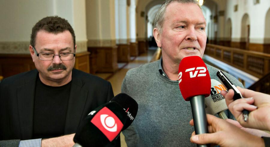 ARKIVFOTO 2014 af Enhedslistens Frank Aaen (th) og Per Clausen (tv)