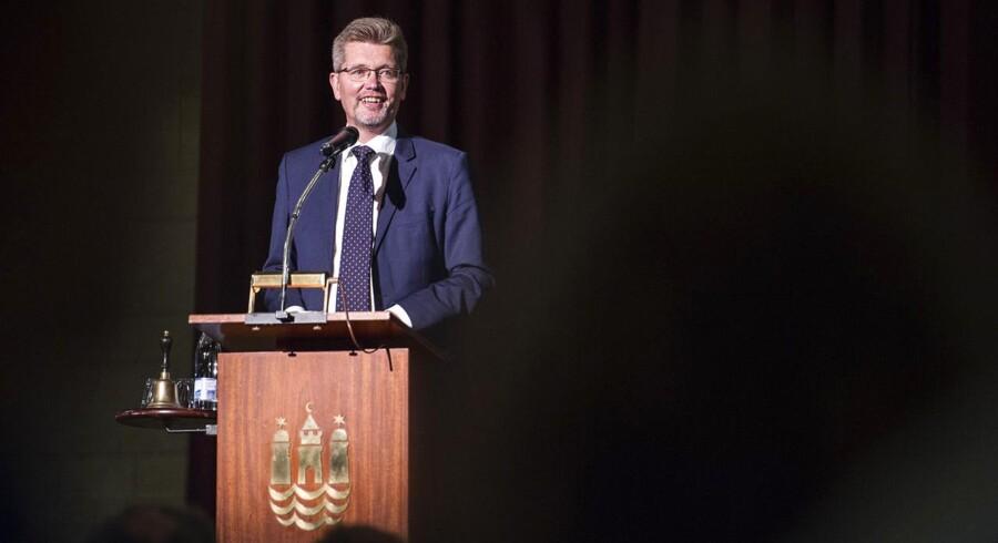 Frank Jensen (S) er sammen med sine medborgmestre Anna Mee Allerslev (R), Morten Kabell (Ø), Carl Christian Ebbesen (DF) kommet med et nyt forslag til en erhvervs- og vækstpolitik for København.