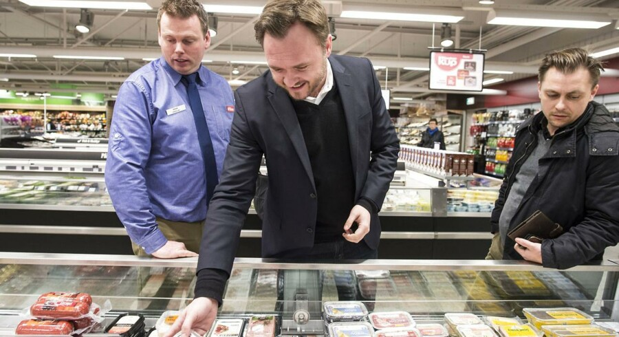 Fødevarerminister Dan Jørgensen (S) besøger Superbrugs i Odense.