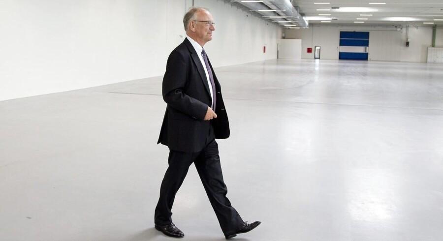 Jørgen Tandrup, bestyrelsesformand i Scandinavian Tobacco Group, indvier her en nye fabrikshal i Holstebro. Tandrup står til at tjene mellem 6 og 7,5 mio. kr. på Scandinavian Tobacco Groups børsnotering.