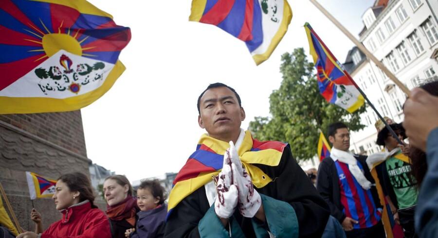 Demonstration mod Kinas menneskerettighedsovertrædelser over for Tibet i København
