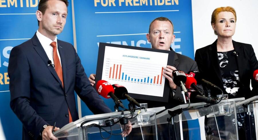 Under valgkampen præsenterede Lars løkke Rasmussen, Kristian Jensen og Inger Støjberg et bud på en asylreform.
