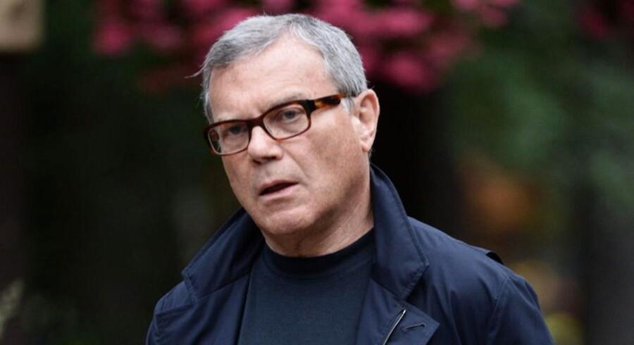 Sir Martin Sorrell (bill.) langer ud efter fusionen mellem Omnicom og Publicis.