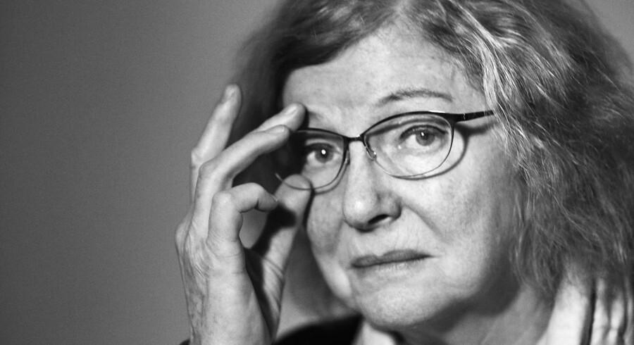 Portræt af Drude Dahlerup, professor, EU-modstander og medstifter af JuniBevægelsen. Fotograferet hos Scanpix.
