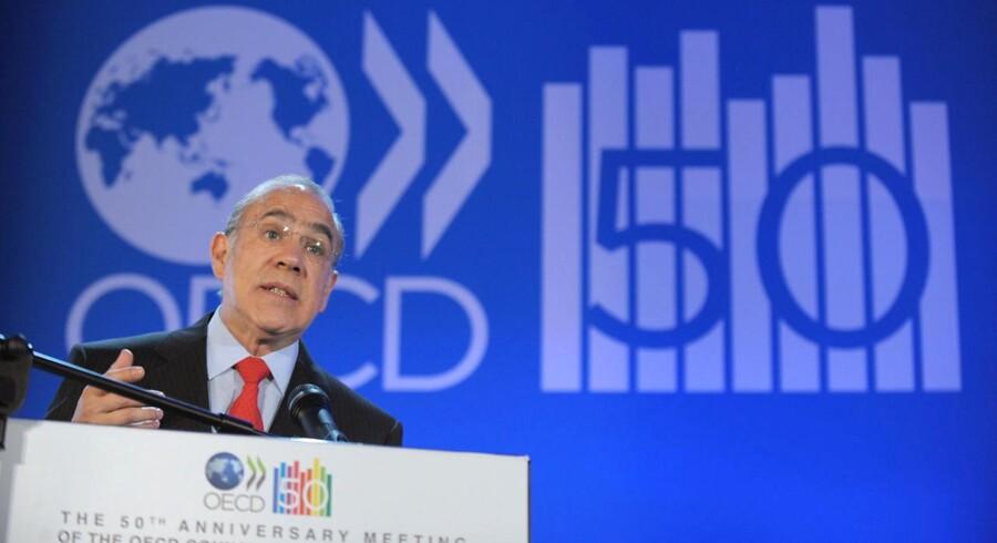 Dette er et følsomt øjeblik for den globale økonomi. For krisen er ikke forbi, før der bliver skabt flere job, siger Angel Gurria, generaldirektør for OECD, ved fremlæggelsen af organisationens seneste prognose, i tirsdags.