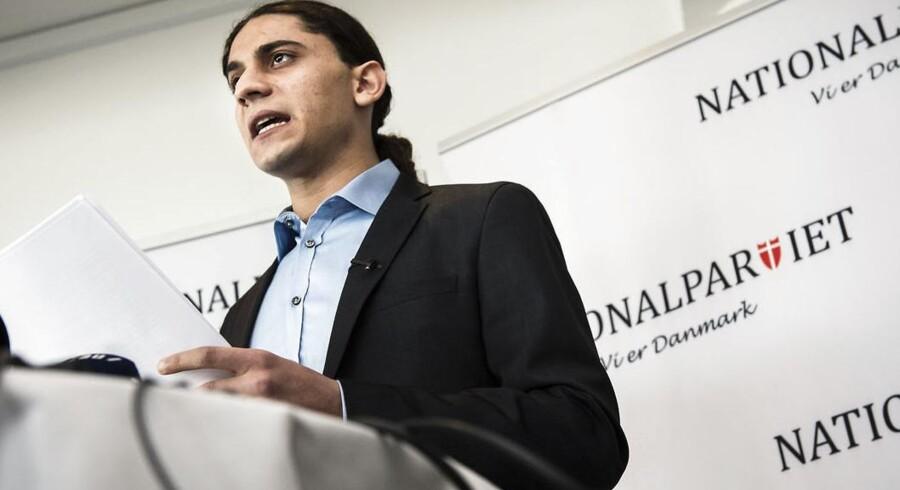 Pressemøde tirsdag 7. april på Hotel Stay i København. Yahya Hassan redegjorde for de tanker og overvejelser, der ligger bag hans kandidatur.