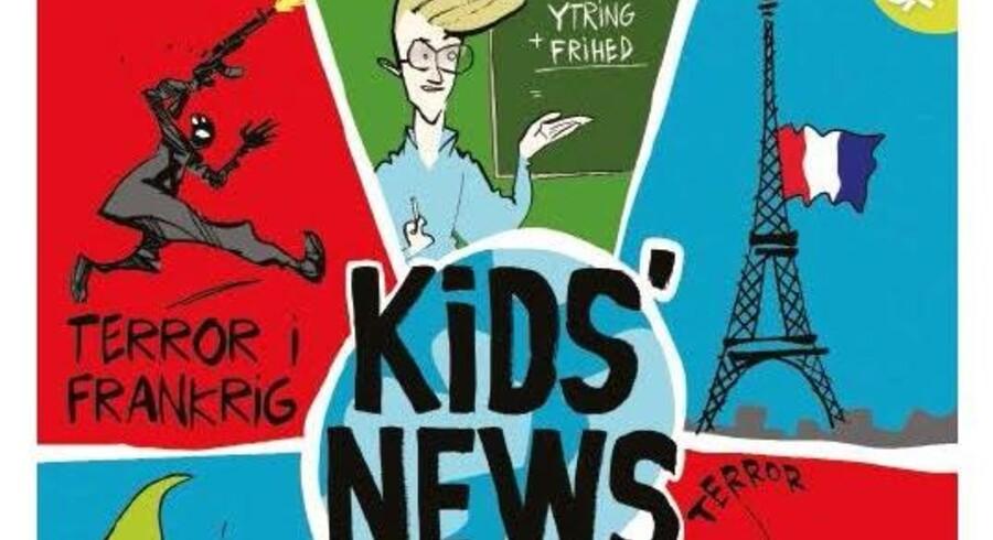 Den forside af Kids' News, der har vundet den internationale pris.