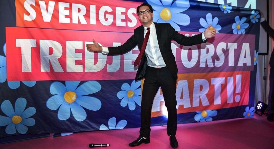Jimmie Akesson fra Sverigesdemokraterne - nu Sveriges tredje største parti.