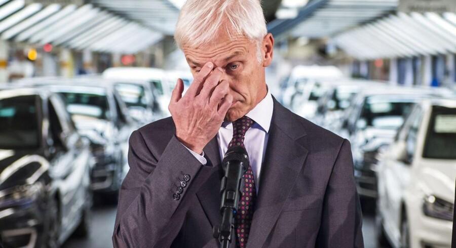 Volkswagens nye koncernchef, Matthias Müller.