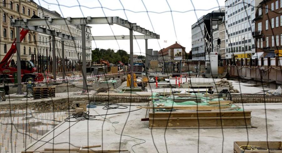 Aarsleff samarbejdede blandt andet med Pihl & Søn i forbindelse med det nye byggeri på Nørreport. Konkursen kan nu mærkes i Aarsleffs forventninger.