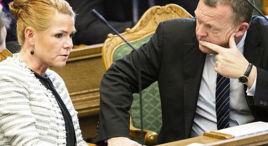 Lars Løkke Rasmussen undsiger sin politiske ordfører, Inger Støjberg. (Arkivfoto)