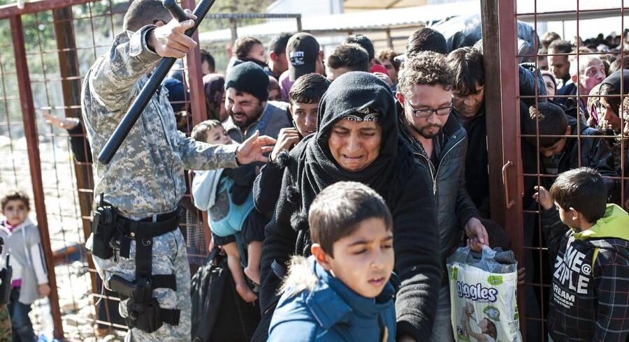ARKIVFOTO af flygtningestrømmen gennem Europa.
