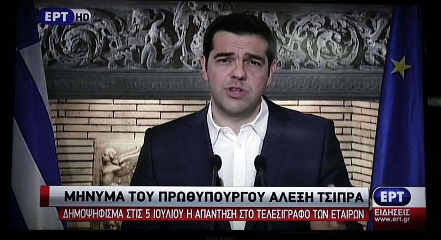 I en TV-transmisteret tale til de græske indbyggere bekendtgjorde premierminister Alexis Tsipras fredag aften, at han agter at sende EU's krav til folkeafstemning.