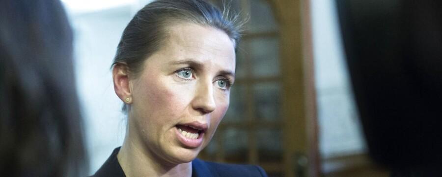 Justitsminister Mette Frederiksen (S)