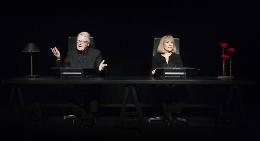 """Sammen på scenen for sidste gang: Bent Mejding og Susse Wold i """"Kærestebreve"""". Foto: Miklos Szabo."""