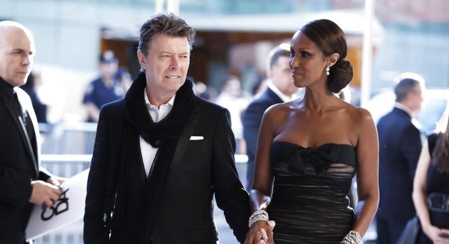 David Bowie med hustruen Iman i 2010.