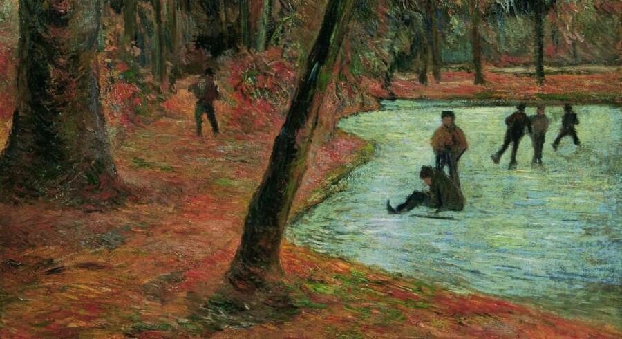 Paul Gauguin brød sig ikke videre om at være i Danmark – men iblandt fandt han dog nogle motiver, han malede. Her er det Frederiksberg Have anno 1884. (Udsnit)
