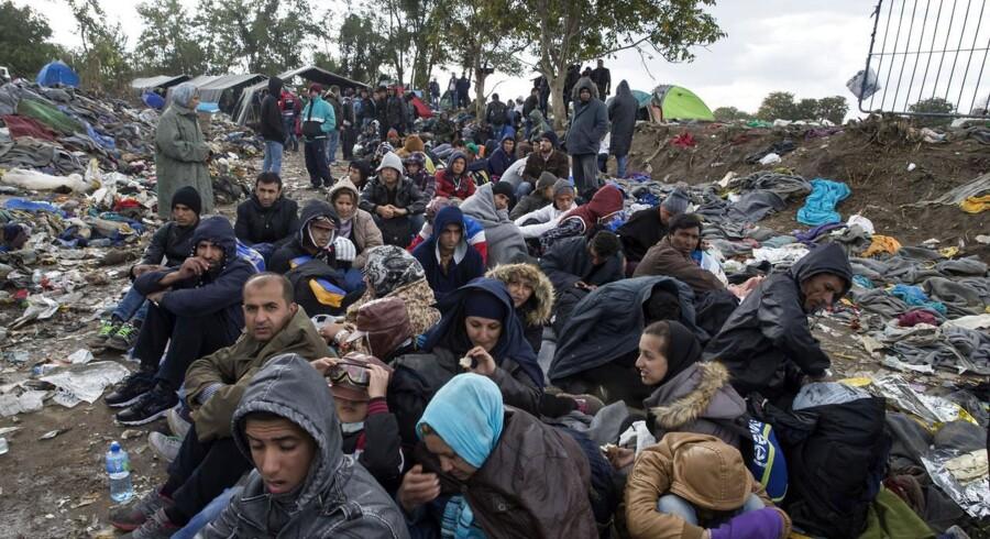 Slovenien og de øvrige Balkan-lande er presset i bund med håndteringen af de flygtninge der strømmer gennem landene. På søndagens topmøde gav også Tyskland udtryk for, at EU ikke kan blive ved med at modtage flygtninge som hidtil. Foto: Marko Djurica