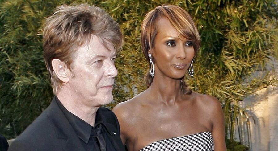 David Bowie med sin hustru Iman i 2006.