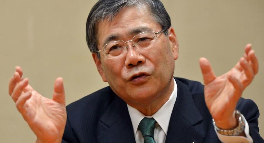 Topchef for Mitsubishi Heavy Industries (MHI), Shunichi Miyanaga. AFP PHOTO / Yoshikazu TSUNO