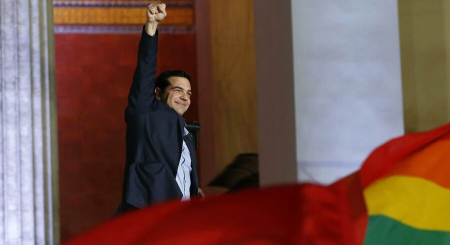 Alexis Tsipras, valgets store vinder og leder af det græske venstrefløjsparti Syriza.