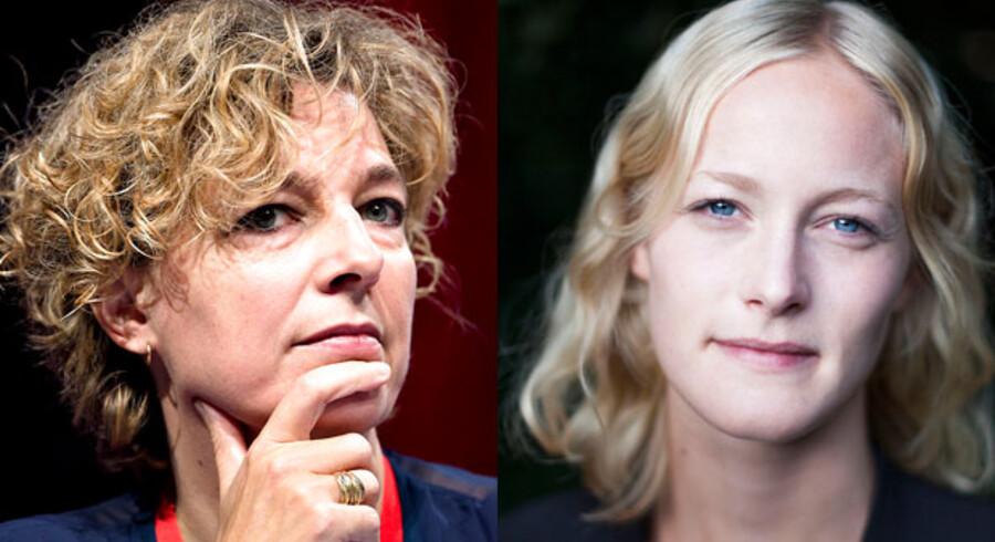 Undervisningsminister Christine Antorini og formanden for Gymnasieeleverne, Mathilde Vinther