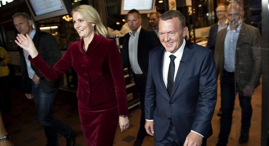 Partilederdebat. Det sidste ord. Lars Løkke Rasmussen og Helle Thorning-Schmidt.