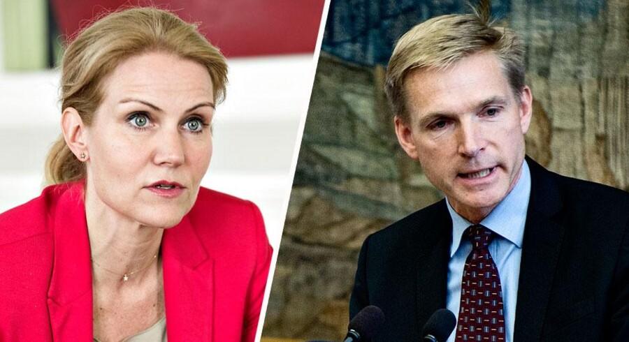 Statsminister Helle Thorning-Schmidt angriber DF's formand Kristian Thulesen Dahl for at løbe fra ansvaret. (Foto: Torkil Adsersen)