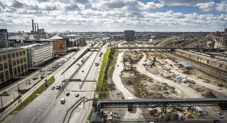Byggepladsen ved Dybbelsbro og Fisketorvet. Planen er at her skal der bygges en IKEA.
