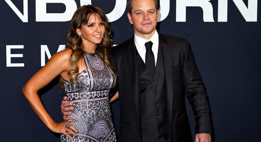Matt Damon med hustruen Luciana Barroso