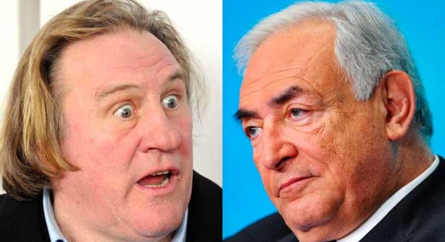 Depardieu (til venstre) skal spille Strauss-Kahn