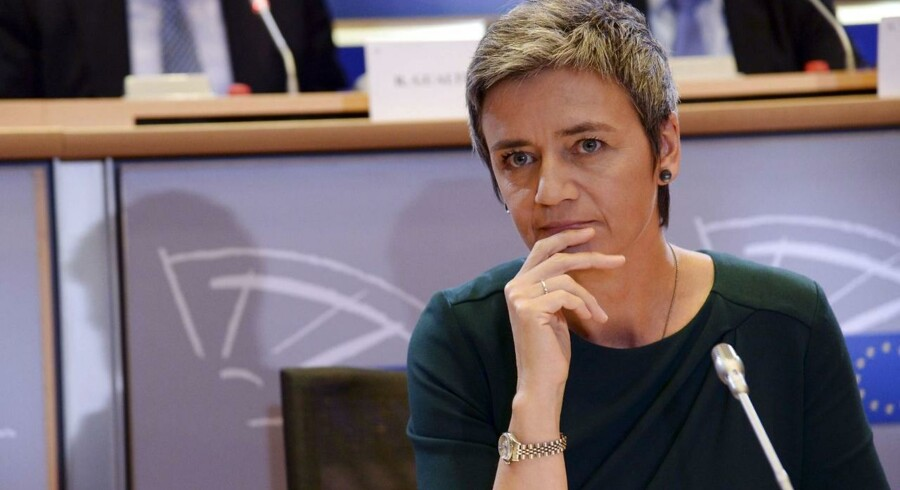 The European Union Commissioner for Competition Margrethe Vestager of Denmark attends her hearing at the European Parliament in Brussels, on October 2, 2014. AFP Photo/Thierry Charlier.