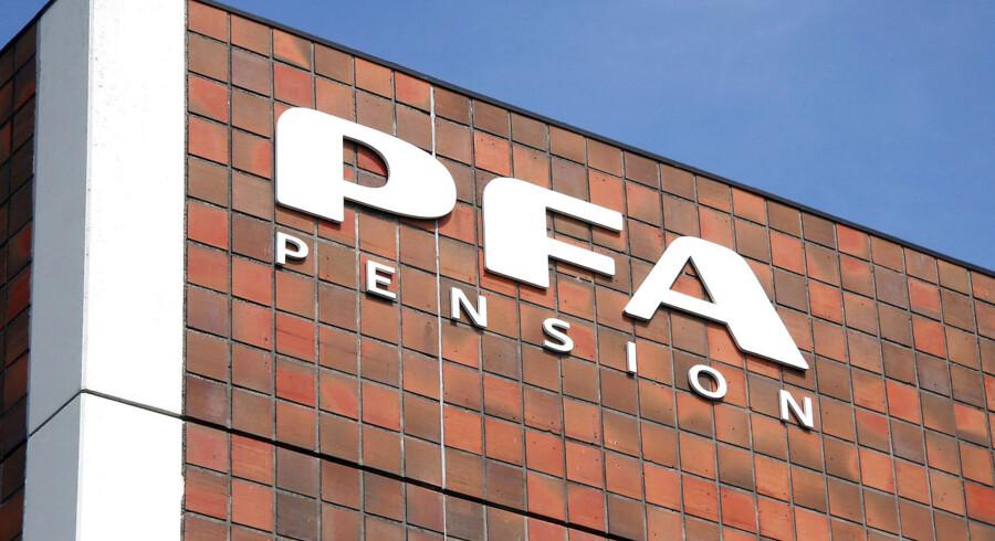 PFA Pension logo i København.